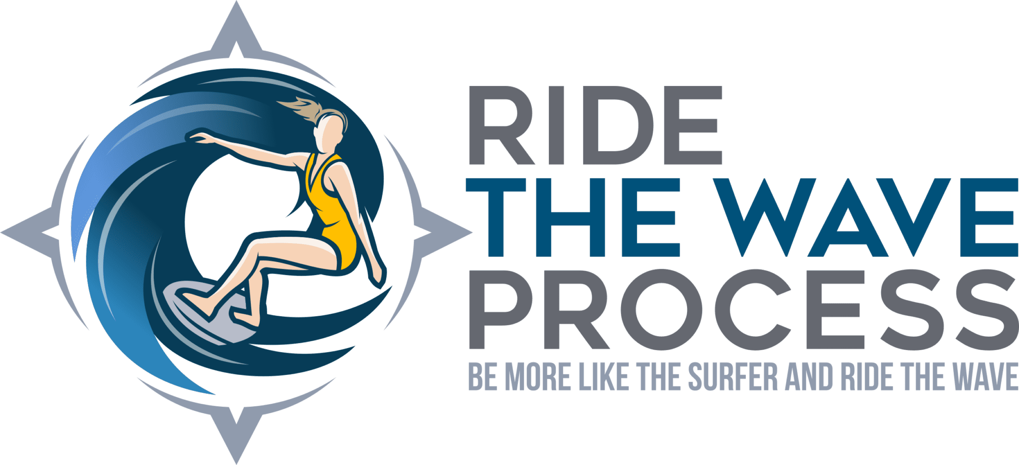 RIDE THE WAVE Process Logo
